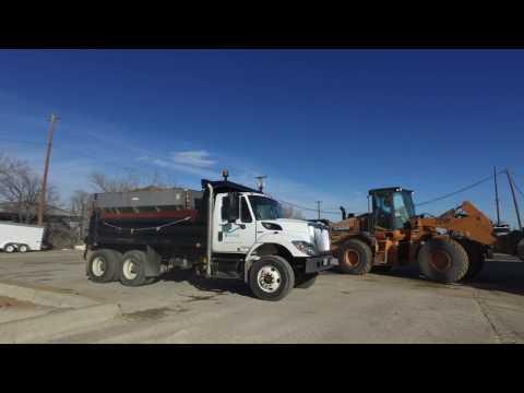 Public Works Department Sand Trucks longer
