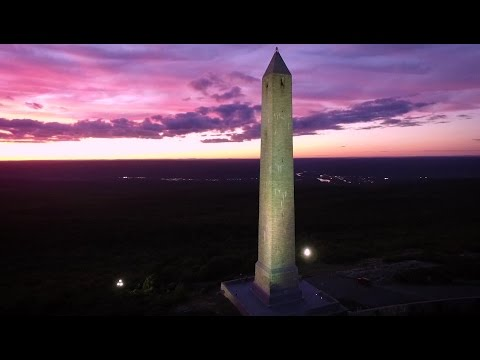 Drone - High Point Monument at Sunset 2016