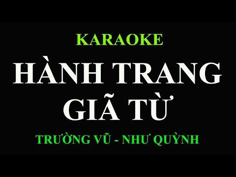 Hành Trang Giã Từ Karaoke (Trường Vũ & Như Quỳnh)