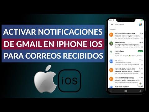 Cómo Activar las Notificaciones de Gmail en un iPhone iOS para los Correos Recibidos