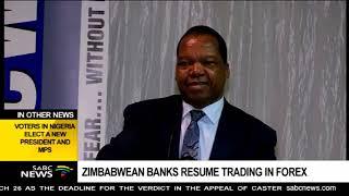 Zimbabwe banks resume trading in forex