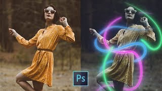 Glowing Neon Lines Effect | Photoshop Tutorial
