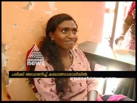 Kalolsavam 2018 ; Soubhagya from Kollam participating with Fractured leg
