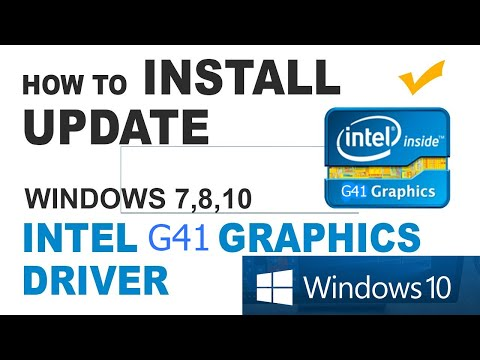 Download And Install Intel G41 Driver On Your PC With Windows 8/8.1/10 Without Error!!!