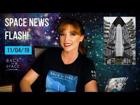 Space News Flash 11/04/19: Mars Mole & New Rover, Spooky NASA, X37 return, Mike Collins BD