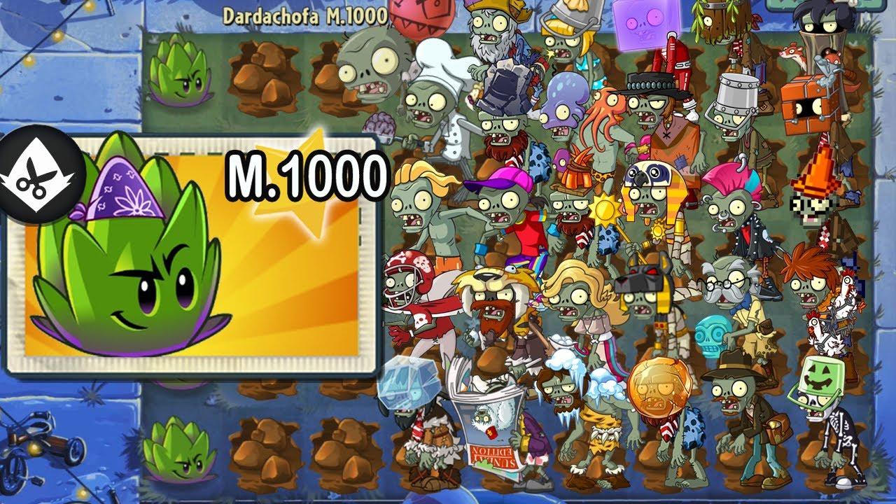 Plants vs Zombies 2 - Super Dardachofa Level 1000