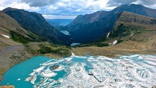 Skiing The Salamander Glacier - Montana - Glacier National Park