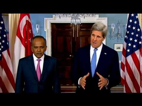 Secretary Kerry Delivers Remarks With Foreign Minister of Singapore Shanmugam
