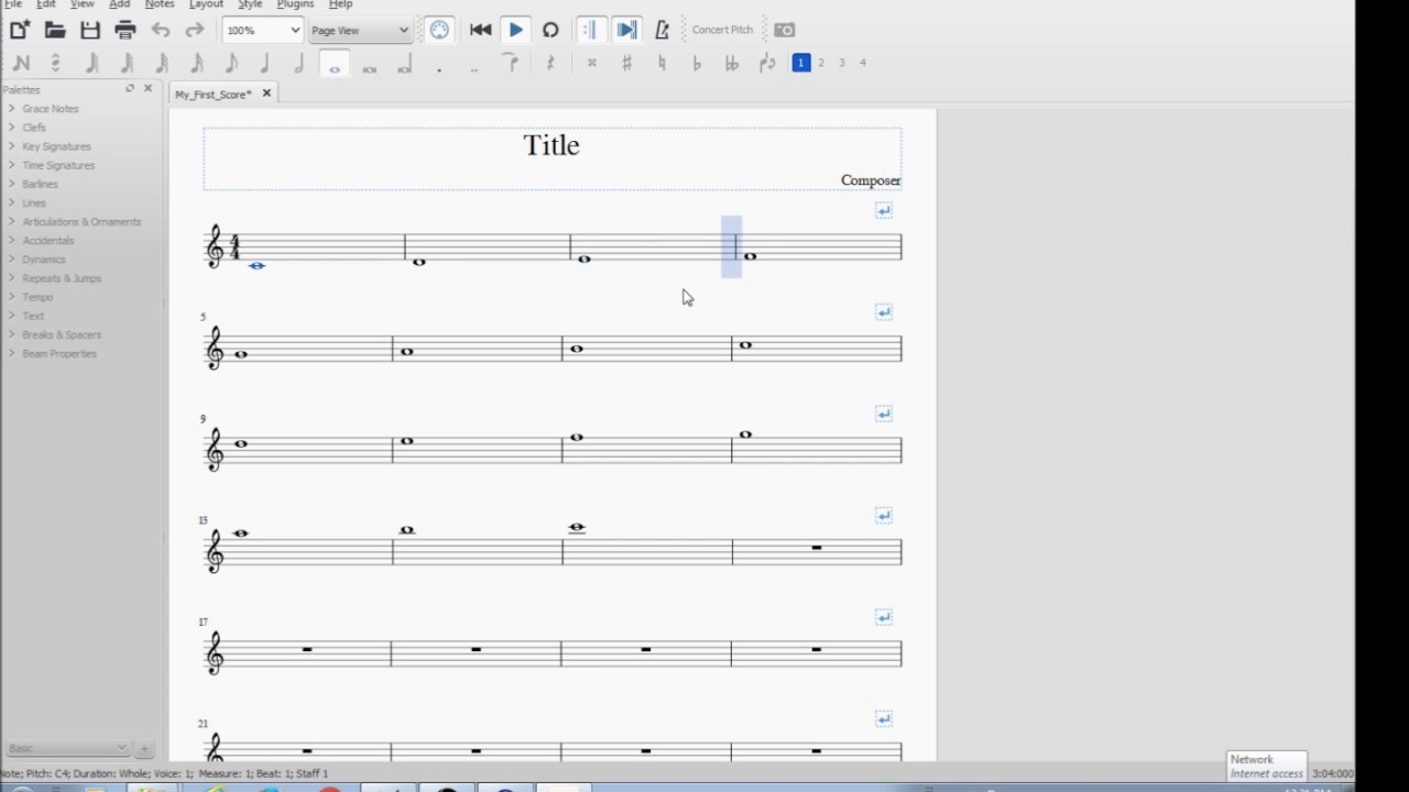 how to write music notes on staff paper