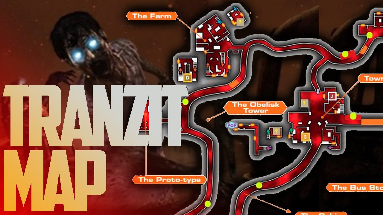 Tranzit Map Layout All Locations Inc Secret Shortcuts Magic Box Pap Etc Black Ops 2 Zombies Youtube