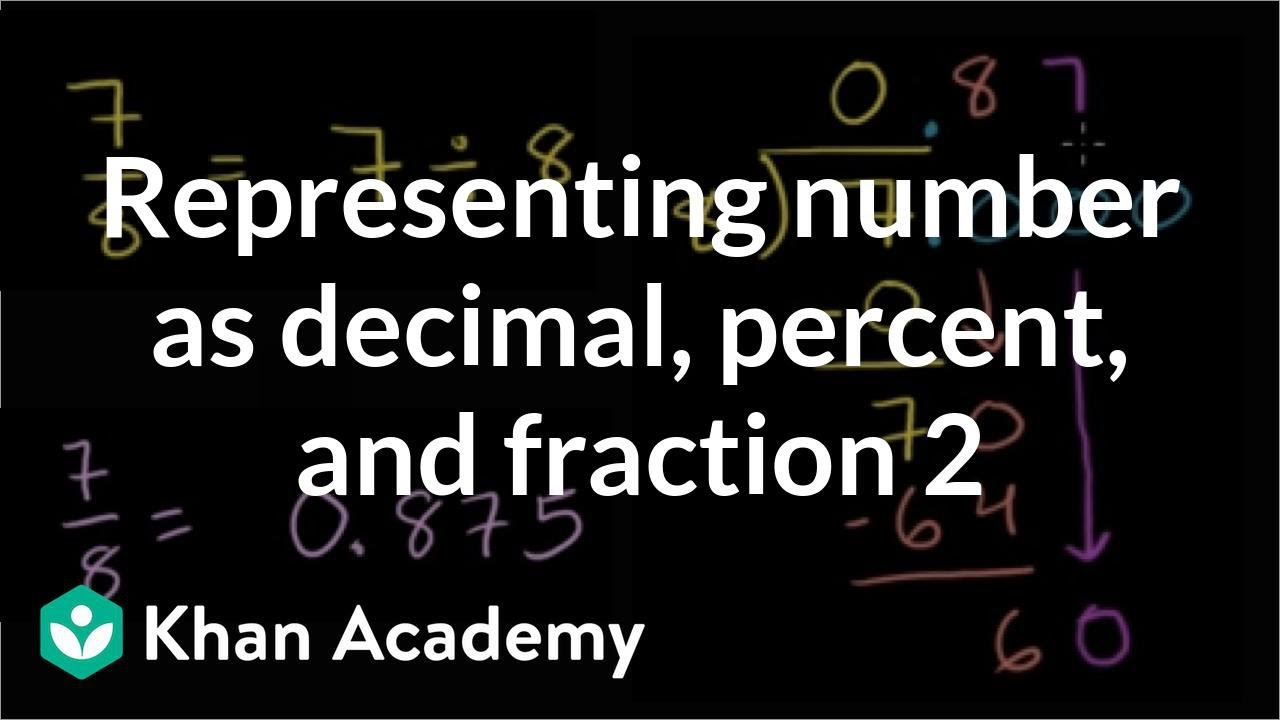 how to find percent change khan academy