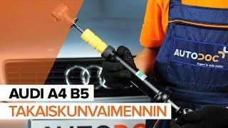 AUDI A4 Jarrukenkä asentaa : videokäsikirjat