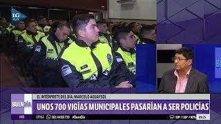 Unos 700 vigías municipales pasarían a ser policías
