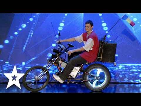 This Guy has the COOLEST Bike | Auditions Week 3 | Românii au talent