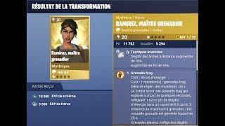 Fortnite - Schéma de Transformation Héro pour Ramirez, Maître Grenadier Mythique !