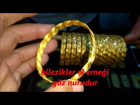 22 Ayar Altın Örgülü Burma Bilezik Modelleri ve Fiyatları Çeşitleri