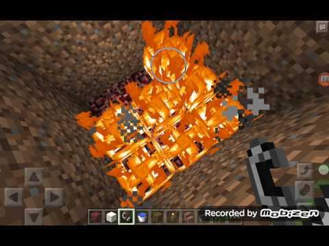 Cách làm suối nước nóng trong minecraft pe
