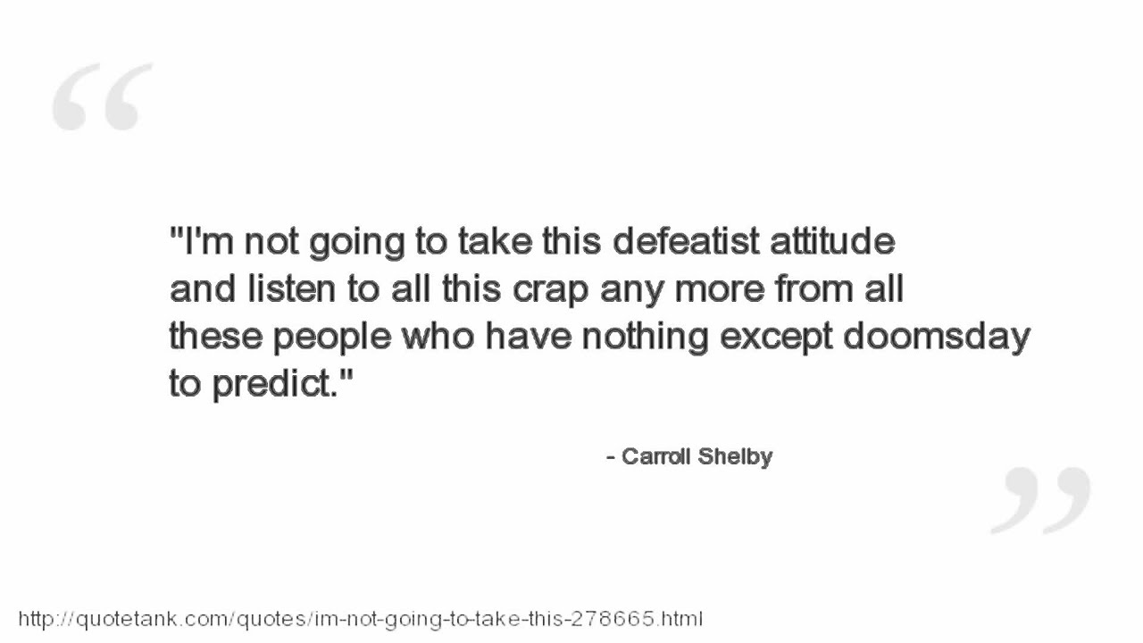 Single But Not Available Quotes: Carroll Shelby Quotes
