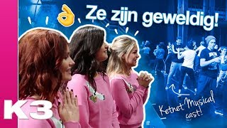 Op bezoek bij de cast van Ketnet Musical: Team U.P. - K3 vlog #14