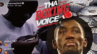 """TERENCE CRAWFORD Goes FISHING and Bumps YG's """"I WANT A BENZ"""" Ahead of Fight vs JEFF HORN"""