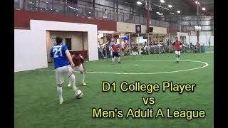 D1 College Soccer Player vs Men's A League