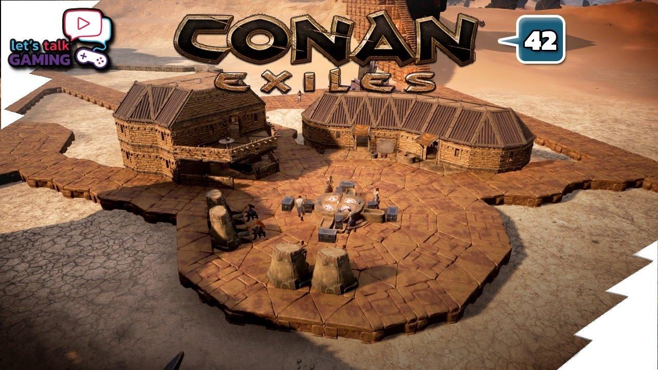 Conan Exiles Building A Blacksmith S Shop E42 Youtube