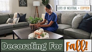DECORATING FOR FALL 2018   DECORATE WITH ME!   FALL DECOR