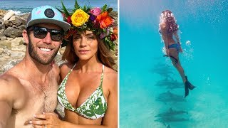 SWIMMING WITH DOLPHINS IN HAWAII | Brodie & Kelsey