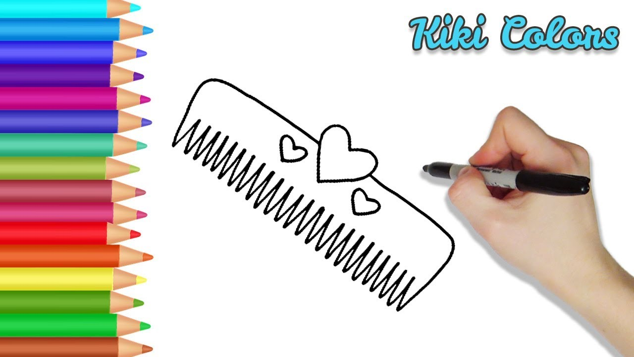 How to Draw Easy Hair Comb Part 1 | Teach Drawing for Kids ...
