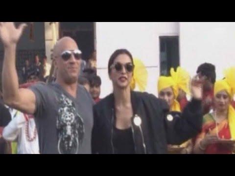 Vin Diesel arrives in Mumbai with Deepika