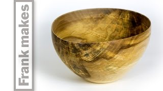 Wood Turned Thin Walled Maple Bowl