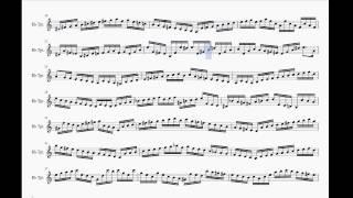 Video Bach partita No.1 Double presto Trumpet play along BWV 1002 + sheet download download MP3, 3GP, MP4, WEBM, AVI, FLV Juli 2018