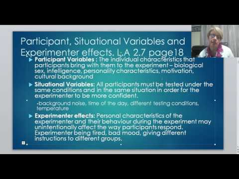4 Extraneous Variables
