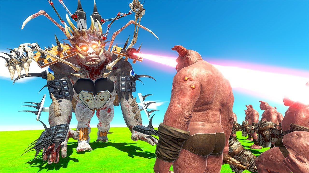 Upgraded GORO vs Ogre Lord ARMY - Animal Revolt Battle Simulator