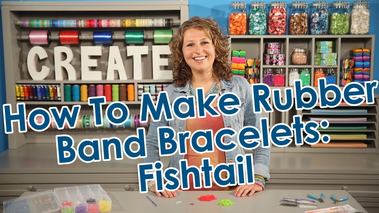 How To Make Rubber Band Bracelets Fishtail Youtube