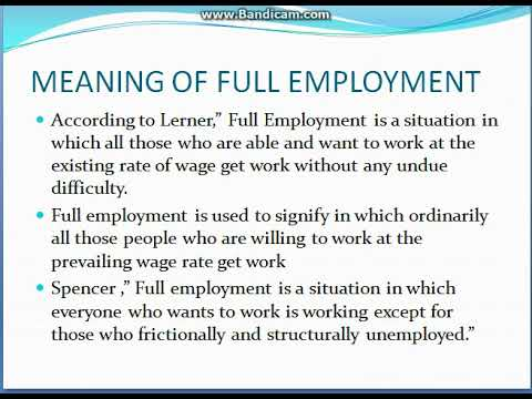 CLASSICAL THEORYOF EMPLOYMENT PART 1 MACRO ECONOMICS