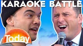 Karl and Guy Sebastian Karaoke Challenge | TODAY Show Australia