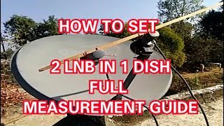 Set ABS and DD FREE DISH Satellite On One Dish / set 2 lnb in 1 dish - Full Guide 2017