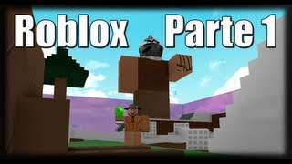 Playing Roblox-Giant attack! -Part 1