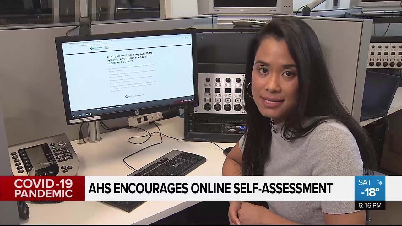 AHS encouraging use of COVID-19 self-assessment online tool - YouTube