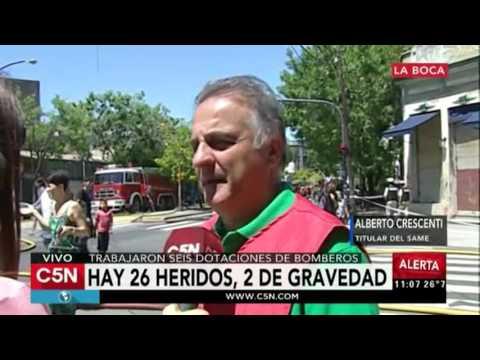 C5N - Incendio en La Boca: 26 heridos, habla el titular del SAME