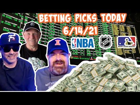 Live Sports Betting Picks 6/14/21 - NBA Playoffs, MLB and NHL Playoff Picks