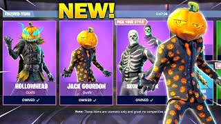 *NEW* HALLOWEEN SKINS in Fortnite! HOLLOWHEAD & JACK GOURDON SKIN Gameplay! (Fortnite Battle Royale)