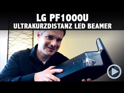 lg pf1000u minibeam led beamer kurzdistanz im test vorstellung deutsch german youtube. Black Bedroom Furniture Sets. Home Design Ideas