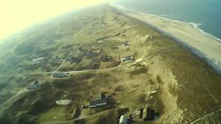 ❤️ 100m stormy flight test - Hubsan X4 H502E Drone - Denmark beach