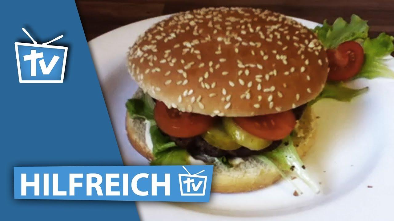 hamburger selber machen lecker burger rezept typisch amerikanische burger machen youtube. Black Bedroom Furniture Sets. Home Design Ideas