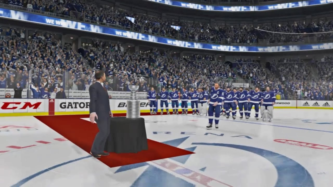 NHL 21 Gameplay - Stanley Cup Presentation (PS4) - YouTube