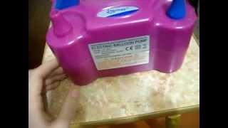Компрессор для воздушных шаров(Интернет магазин где я покупал такой компрессор http://lmar.biz/catalog/igrushki-v-assortimente/naduvnaya-produktsiya/, 2014-10-24T17:15:41.000Z)