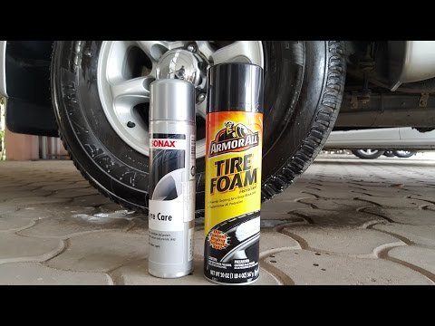 ArmorAll Tire Foam  vs Sonax Tyre care comparison