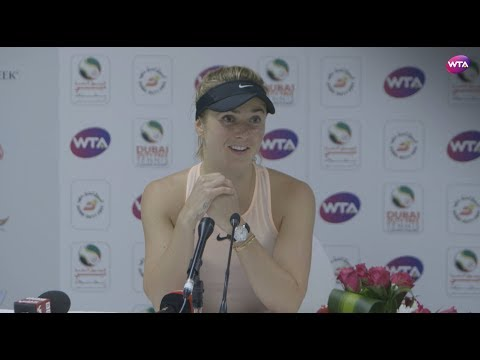 2018 Dubai press conference: Elina Svitolina delighted to win semifinal in two sets